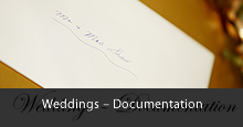 Wedding documentation